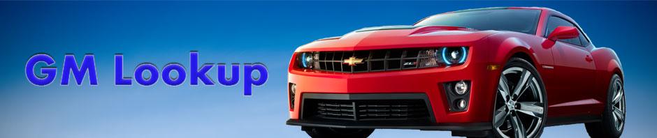 GMLookup for Vehicle Lookup Information